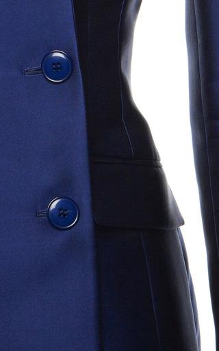 Antonio Berardi Marine Blue Duchess Tuxedo Jacket by ANTONIO BERARDI Now Available on Moda Operandi