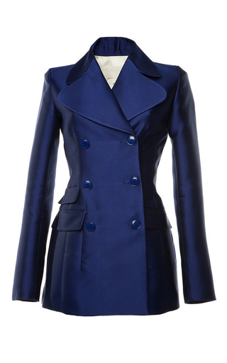 Medium antonio berardi blue marine blue duchess tuxedo jacket