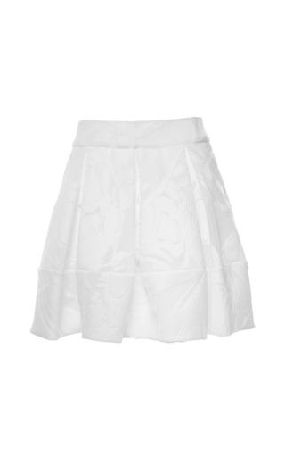 Medium antonio berardi white white floral devore pleated skirt