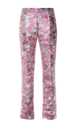 Medium antonio berardi pink fil coupe cropped trousers