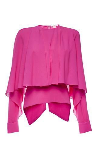 Medium antonio berardi pink magenta long sleeve capelet top