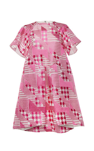 Medium antonio berardi pink short sleeve patchwork dress