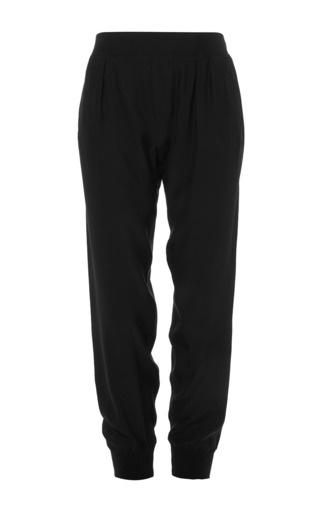 Medium atm black silk jogging pants