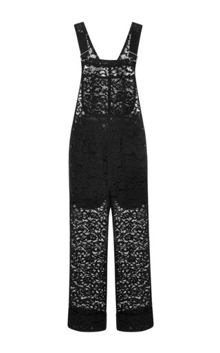 Medium nina ricci black black lace jumpsuit