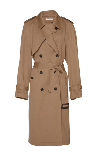 Medium j w anderson brown wool drill trench coat