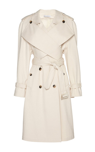 Medium j w anderson off white cotton drill trench coat with wrap front