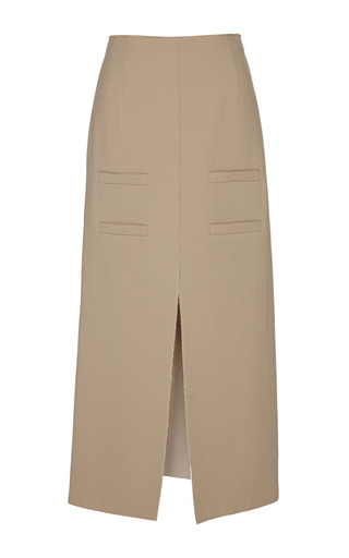 Medium j w anderson brown camel long slit front skirt