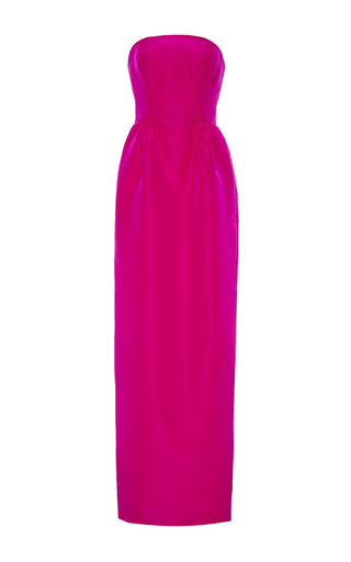 Medium oscar de la renta pink strapless column gown