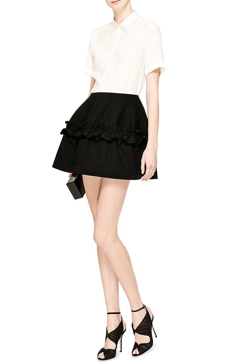 Classic Fashion Oscar De La Renta Leather Sandals Black Suzy Chiffon And Satin