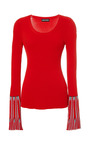 Rib And Chevron Jacquard Long Sleeves Jumper by SONIA RYKIEL for Preorder on Moda Operandi