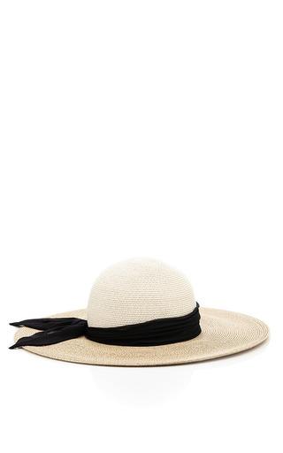 Medium eugenia kim brown honey hat with black ribbons