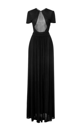 Medium rochas black long jersey dress