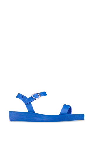 Medium ancient greek sandals blue drama sandal in all blue 4