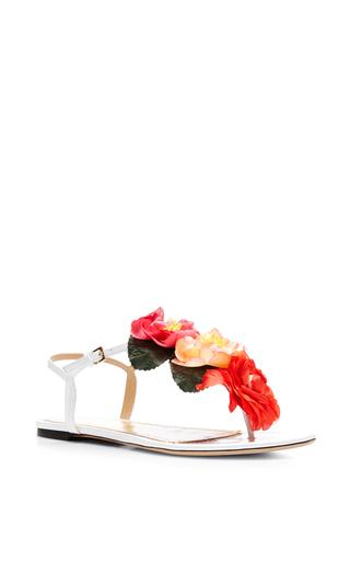 Medium charlotte olympia white rosario flower sandal