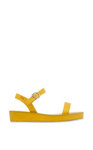 Medium ancient greek sandals yellow drama platform sandal in all yellow 2