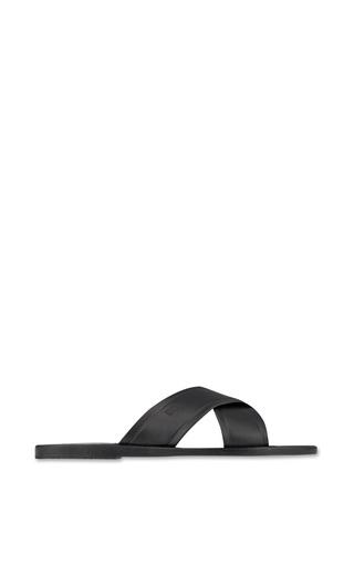 Medium ancient greek sandals black thais sandal in black
