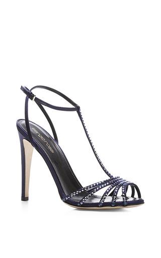 Medium sergio rossi blue shadows embellished sandal