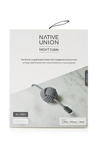 Zebra Night Cable by NATIVE UNION Now Available on Moda Operandi