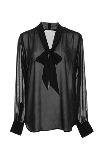 Medium equipment black penelope with contrast sheer blouse