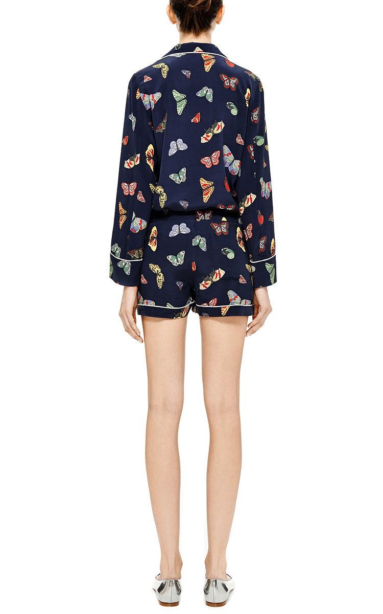 Lilian Printed Washed-Silk Pajama Set by Equipment  258b09e6d