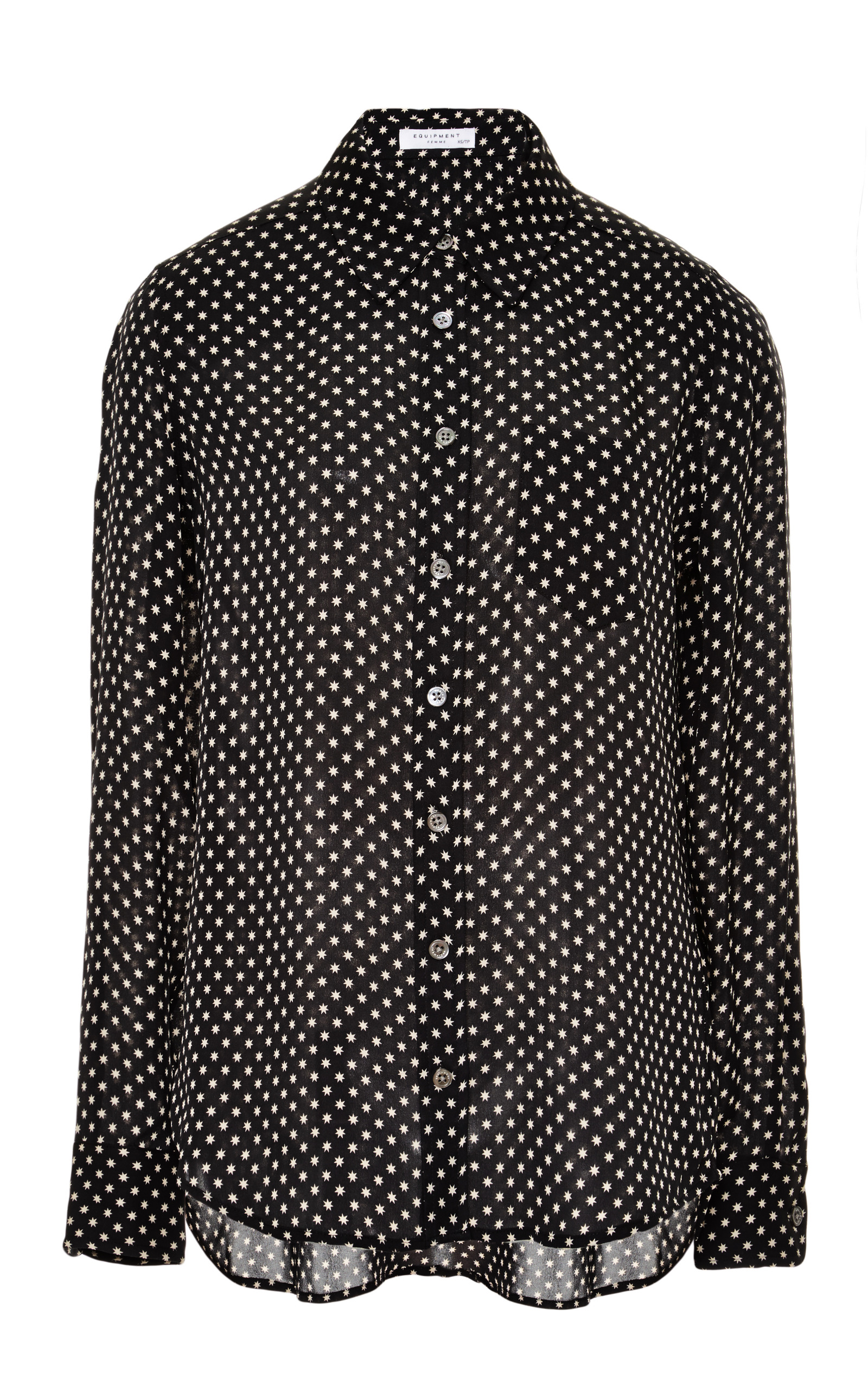 2d658be4cc0921 Brett Star-Printed Silk Shirt by Equipment
