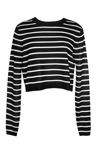 Medium tibi black cropped pull over
