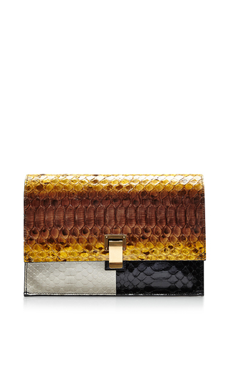 Medium proenza schouler multi small lunch bag in colorblocked python