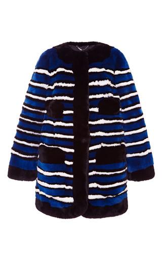Medium marc jacobs blue four pocket coat with satin lining