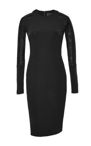 Medium cushnie et ochs black power viscose mesh dress
