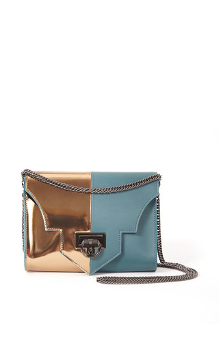 Medium reece hudson gold rider small shoulder bag in sea green