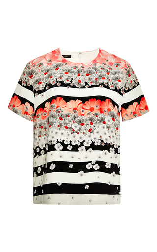 Medium mother of pearl multi candy flower juno short sleeve top