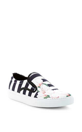 Medium mother of pearl multi magnolia stripe sneakers