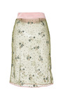 Floral Chartreuse Glitter Pencil Skirt by MARY KATRANTZOU Now Available on Moda Operandi