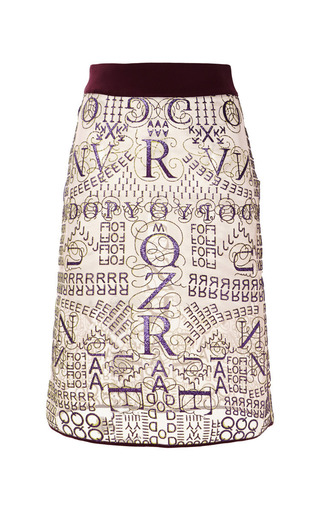 Medium mary katrantzou multi letter rose glitter pencil skirt