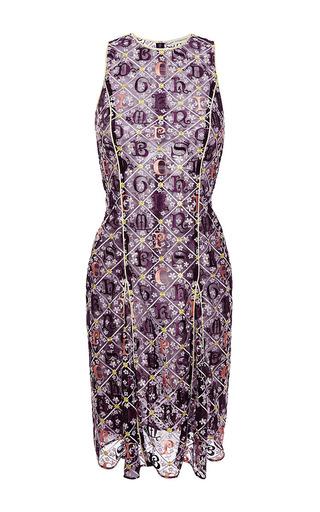 Medium mary katrantzou purple iris lace dress