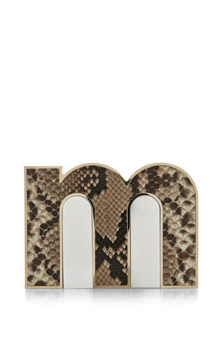 M Clutch by MARY KATRANTZOU for Preorder on Moda Operandi