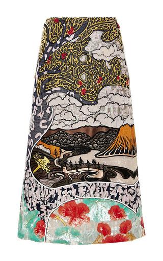 Medium mary katrantzou multi winding river embroidered skirt
