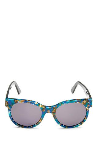 Medium zanzan multi avida dollars sunglasses with blue tortoiseshell frame and dark grey lens
