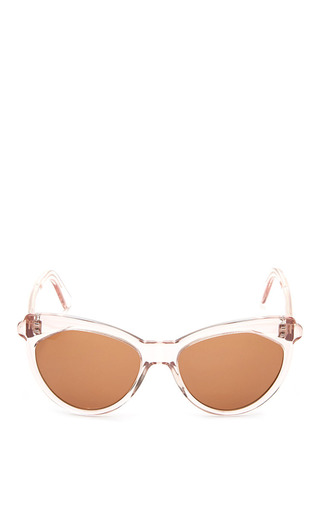 Medium zanzan pink erzulie sunglasses with sheer rose frame and rum lens