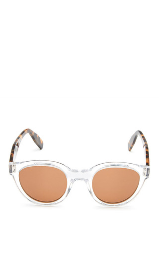 Medium zanzan multi sunetra sunglasses with crystal tortoiseshell frame and rum lens