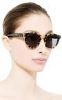 Sunetra D Frame Acetate Tortoiseshell Sunglasses by ZANZAN Now Available on Moda Operandi