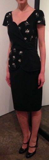 Medium thom browne black short sleeve cardigan dress in black kid mohair