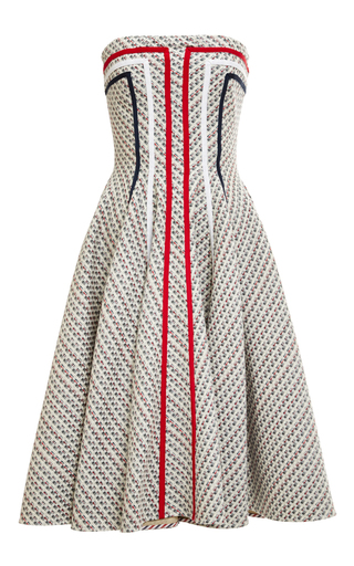 Medium thom browne dark grey strapless flared front paneled dress