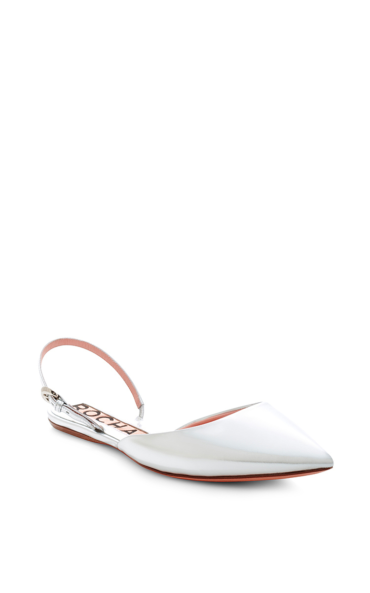 cheap sale latest collections cost for sale Rochas Metallic Slingback Sandals MwNgdls