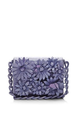 Medium nancy gonzalez purple lavender crocodile skin shoulder bag