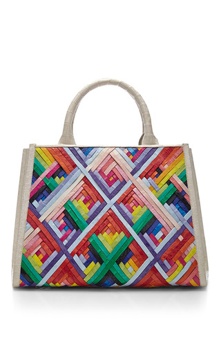 Medium nancy gonzalez multi multi colored crocodile skin tote