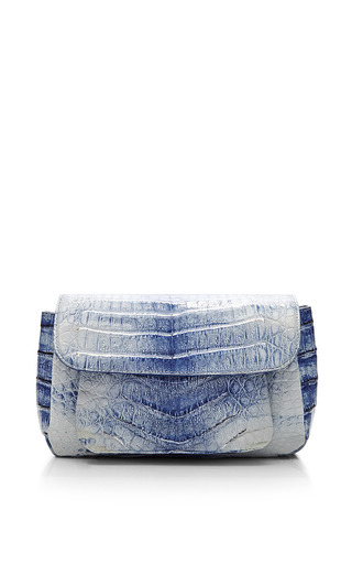 Medium nancy gonzalez blue blue crocodile skin shoulder bag