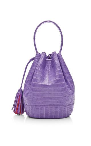 Medium nancy gonzalez purple purple crocodile skin satchel