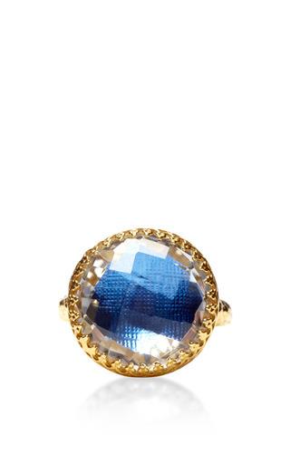 Medium larkspur hawk blue olivia button ring in blue