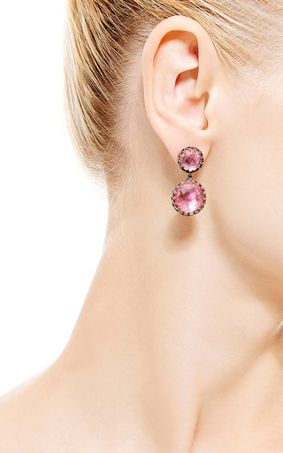 Small Olivia Earrings In Pink by LARKSPUR & HAWK for Preorder on Moda Operandi